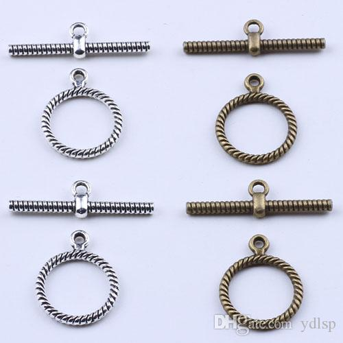 2016 Moda Retro OT fivela charme prata / cobre DIY jóias pingente fit Colar ou Pulseiras 400 pçs / lote 1958c