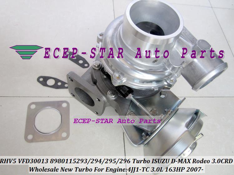 Turbo Cartridge CHRA RHV5 VIEZ 8980115293 8980115294 8980115295 8980115296 VDD30013 For ISUZU D-MAX DMAX Rodeo 07- 4JJ1-TC 4JJ1T 3.0L CRD