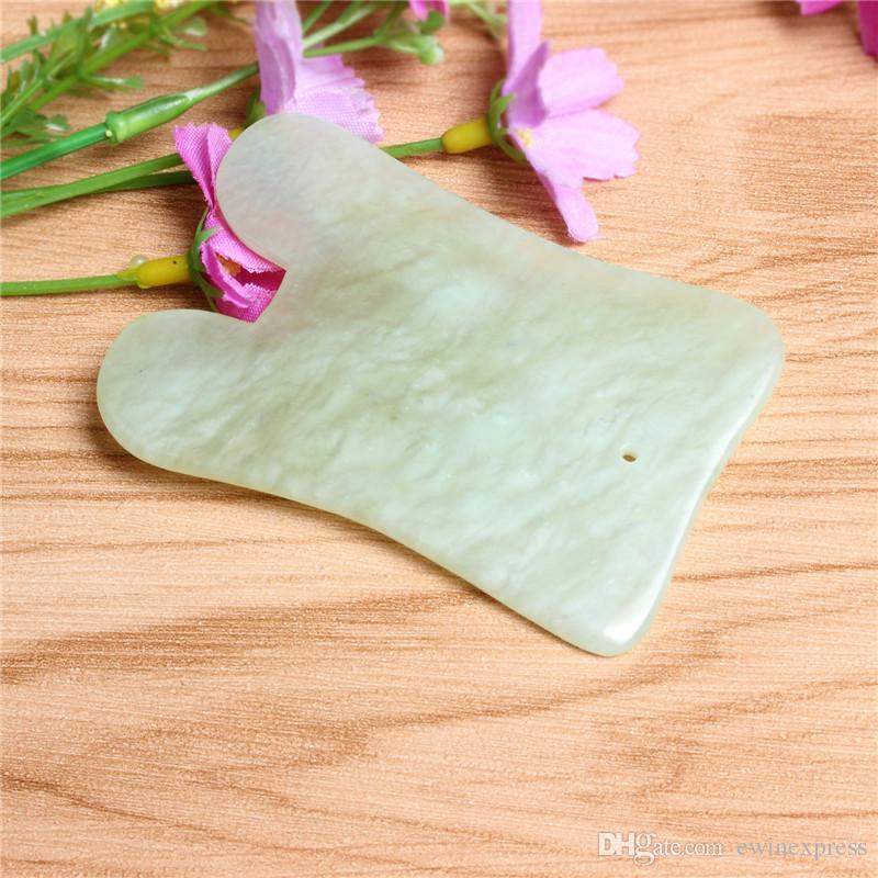 Teoría de los puntos de acupuntura china Nueva y de alta calidad Herramienta de masaje de piedra de jade Salud Jade Junta de masaje tradicional