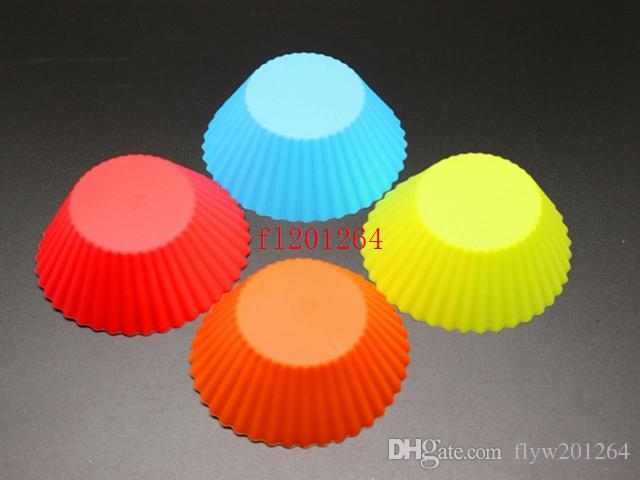/ 무료 배송 임의의 색상 라운드 모양의 실리콘 머핀의 경우 케이크 컵케익 라이너 베이킹 금형 주방 도구 가제트