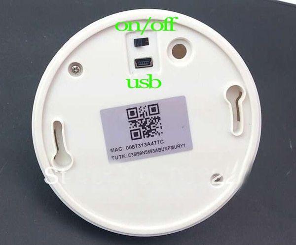 Wireless UFO WiFi Smoke Detector IP Camera HD Mini Smoke Detector Camera DVR for Smartphones PC internet live Video Monitoring