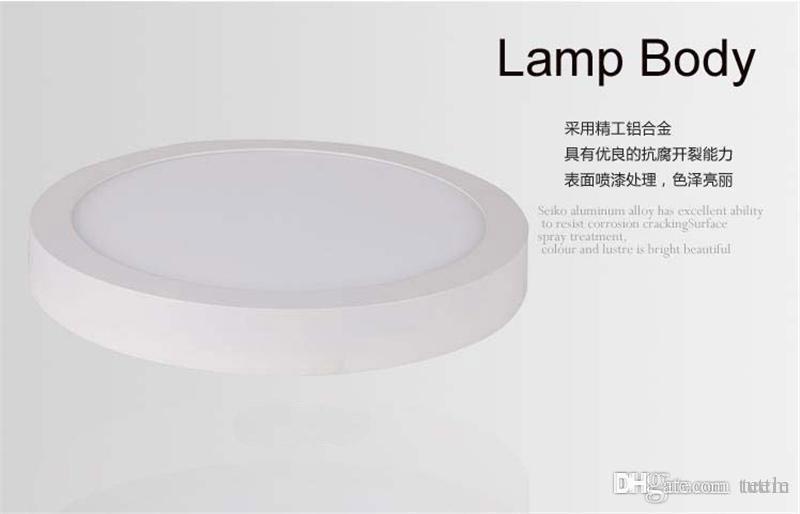 AC 85-265V 9W 15W 25W superfície montada levou downlight dimmable levou luz painel SMD2835 teto Ultra fino círculo para baixo lâmpada de cozinha Casa de Banho