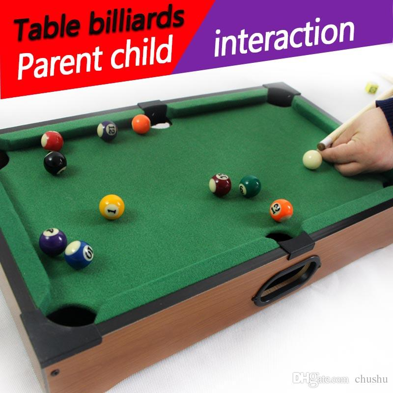 2017 New Educational American Child Indoor Mini Billiard Table Kids Snooker  Family Home Games Billiards Desktop Boy Toys U0026 Games Christmas Gift From  Chushu, ...
