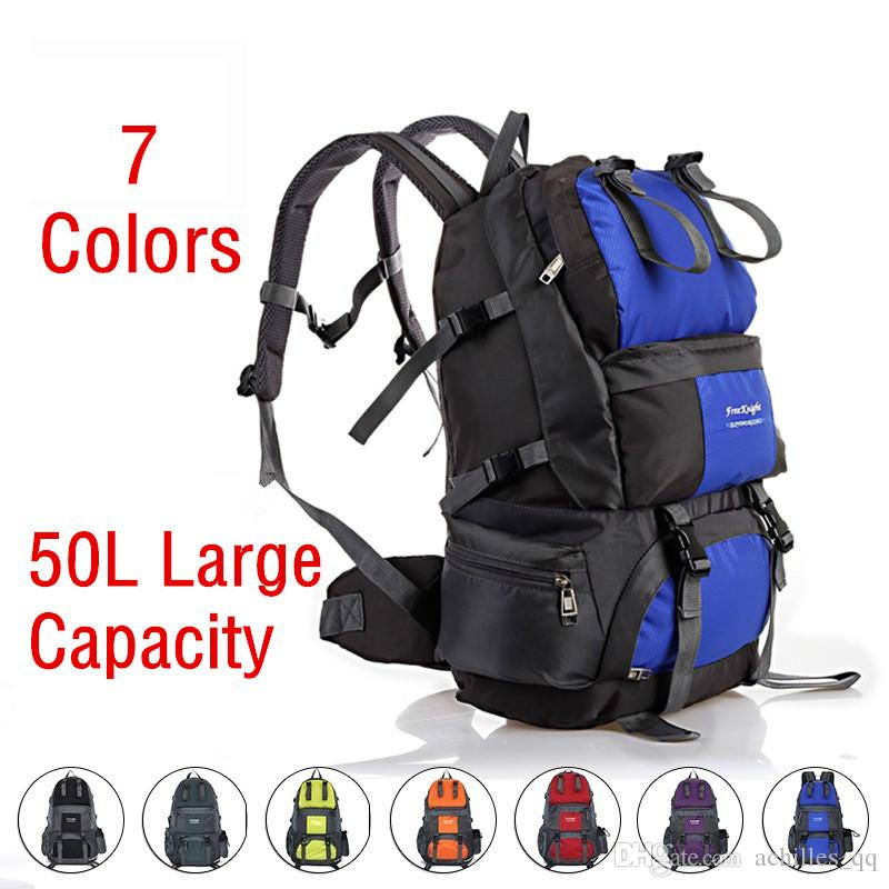 07fc65ad5ece 2019 New Hot Sale 50L Outdoor Backpack Camping Bag Waterproof  Mountaineering Hiking Backpacks Sport Bag Climbing Rucksack From  Achilles qq