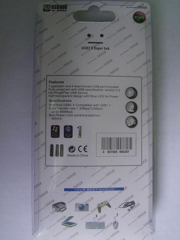 7 ports usb 2.0 hub Dual-core haute vitesse USB ligne 2.0 hub 7 switch socket étendre le convertisseur HUB DHL livraison gratuite