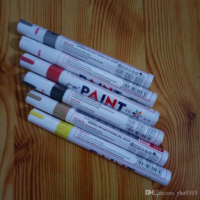 Renkli Su Geçirmez kalem Araba Lastik Lastik Sırtı CD Metal Kalıcı Boya belirteçleri Graffiti Yağlı Işaretleyici Kalem