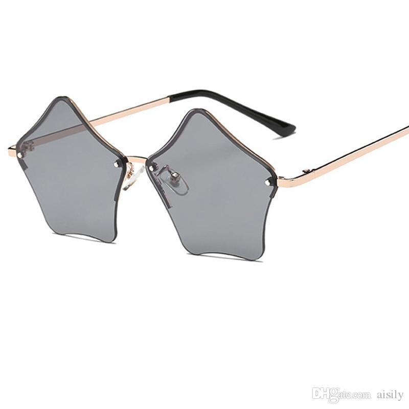 Compre Original Em Forma De Estrela Óculos De Sol Das Mulheres Marca  Gradiente Óculos De Sol Homens Legal Oculos New Hot Eyewear Óculos De Hip  Hop Uv400l127 ... bbda0ca542