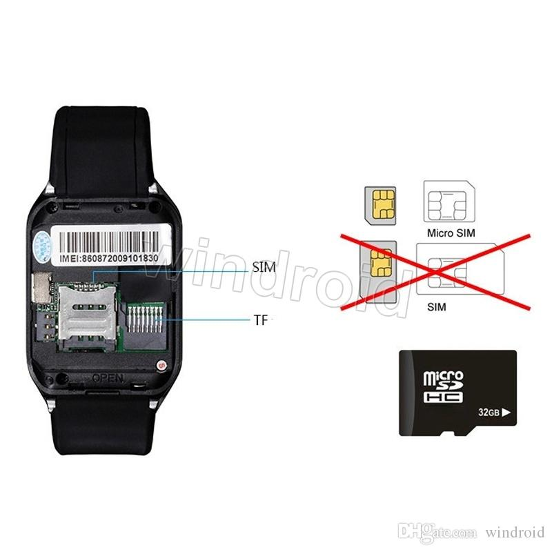 SmartWatch 2015 Último DZ09 Bluetooth Smart Watch para el teléfono celular inteligente de Android 1.56