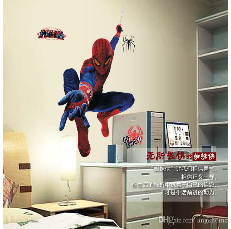 Spider Man 3d Wall Stickers Removable Home Decor Decals Sticker Art Kids Nursery Loving Gift Spider Man Decor Wall Decals Wall Decals For Kids Nursery Wall ... & Spider Man 3d Wall Stickers Removable Home Decor Decals Sticker Art ...