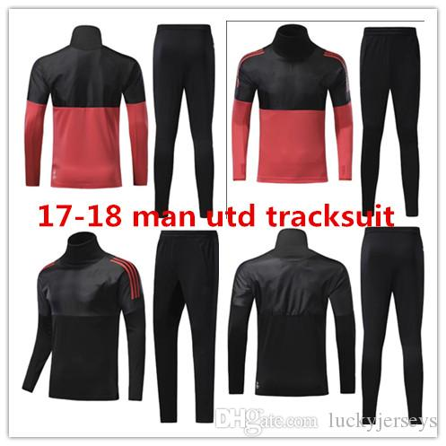 468874acf 2019 2018 UTD Tracksuit Survetement POGBA Football Training Kit Soccer  Chandal 17 18 LUKAKU IBRAHIMOVIC United Jscket Training Pant Sweater Suit  From ...