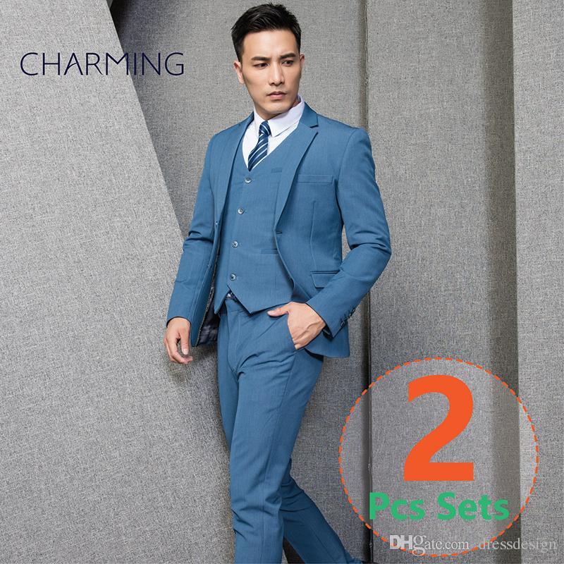 Men Suits Suit For Man Suit + Trousers High Quality Elastic ...