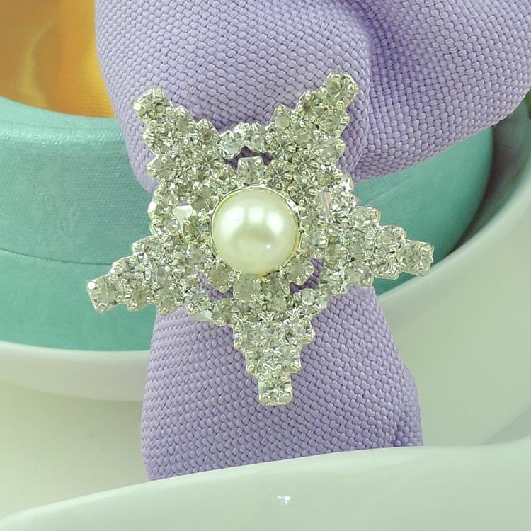 Serviettenringe für Hochzeit Lucky Stars Strass Perlen Serviettenringe Wedding Favor Partei Tischdekoration Zubehör Whosale Serviettenringe
