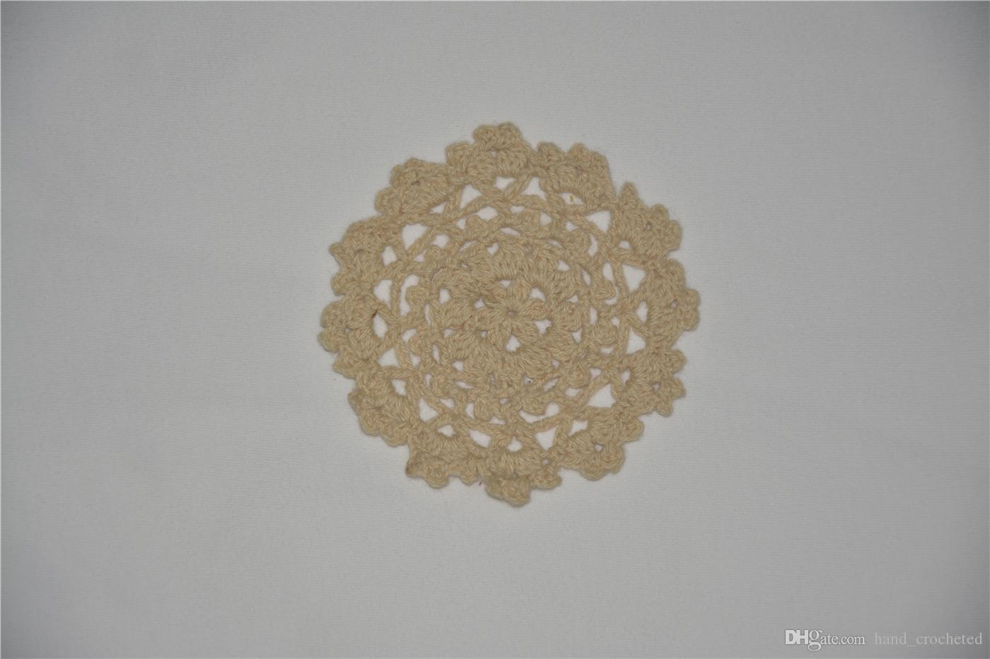 DIY Design Wedding Handmade Crochet Coasters Doily Placemats Crocheted Doilies Size 3.5 inches / Custom Color _DSC0086