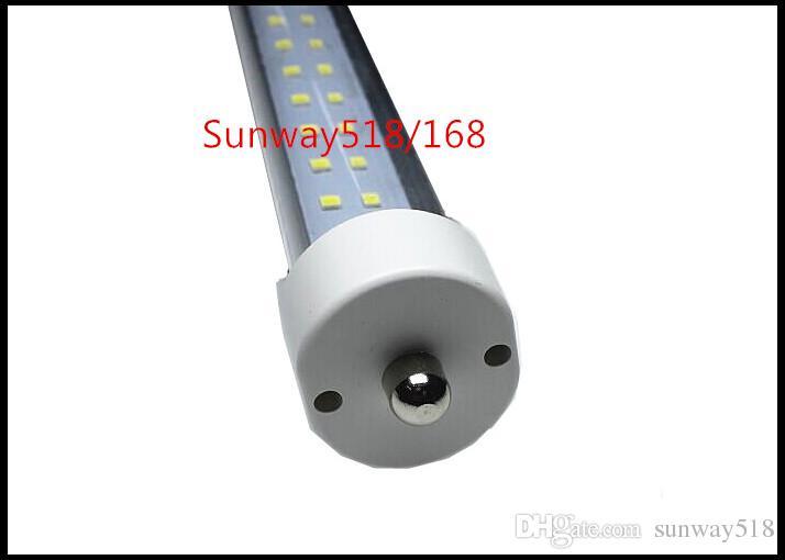 8 FT LED enkele pin fa8 tube 72W V-vormige en durale rij dubbele zijden 2835 LED-lichtbuizen 8FT LED AC85-265V ul DLC