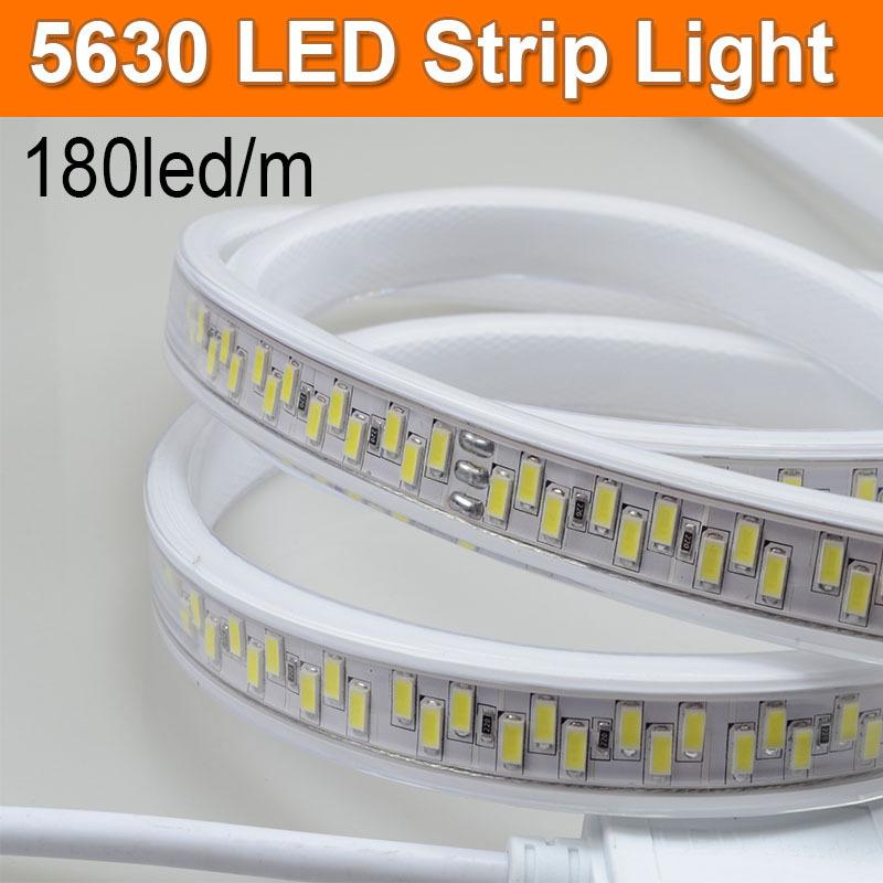 2015 new 180ledm 5630 led strip light 220v flex tape ultra super 2015 new 180ledm 5630 led strip light 220v flex tape ultra super bright pack 1m 5m 10m with power plug brightest led strip lighting strips from gao122yi mozeypictures Choice Image