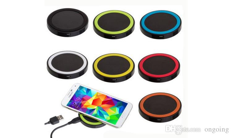 2017 S8 Qi Wireless Charger Cell phone Mini Charge Pad For Qi-abled device Samsung nokia htc LG cellphone with retail package DHL free