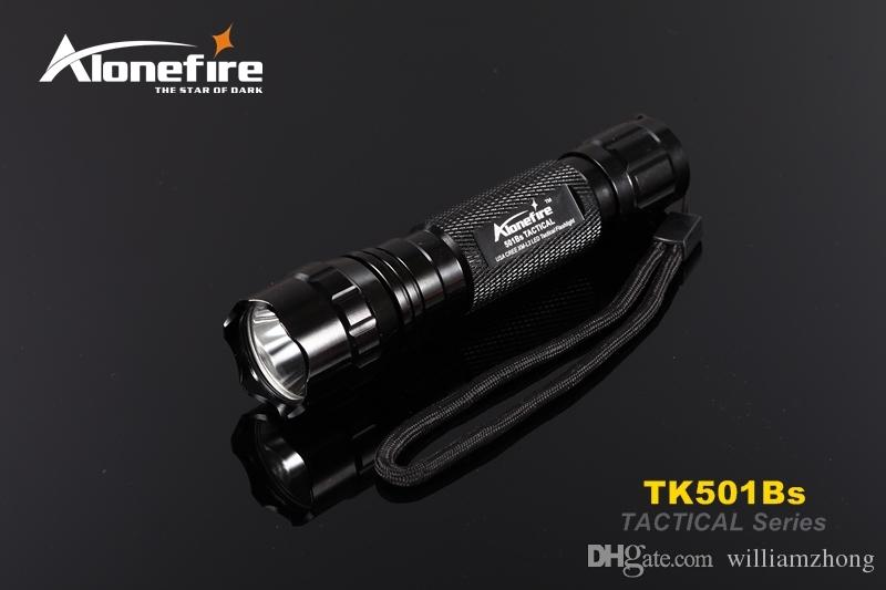 Alonefire 501B Tactical Flashlight led Hunting Torch Spotlight Shotgun lighting +Tactical scope mount+Remote switch