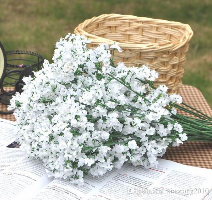 Baixo Preço Atacado Varejo simulação de seda artificial flor Gypsophila paniculata Flor do bebê respiração