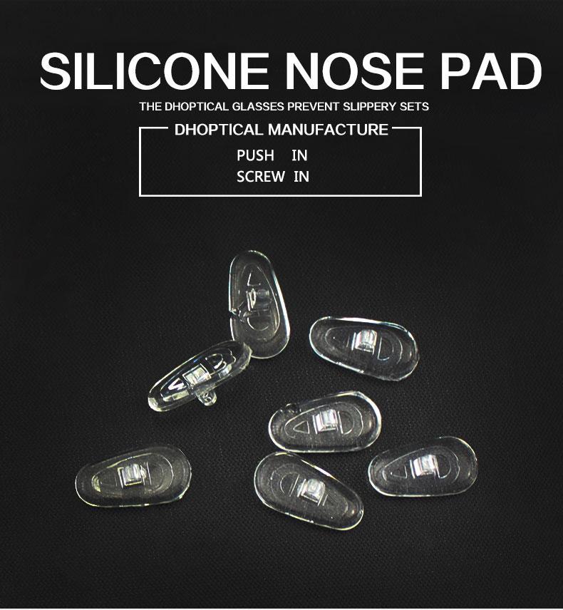 السيليكون وسادة الأنف، لوحة النظارات الأنف نظارات جزء المسمار في دفع في shippig مجانا لمتجر النظارات