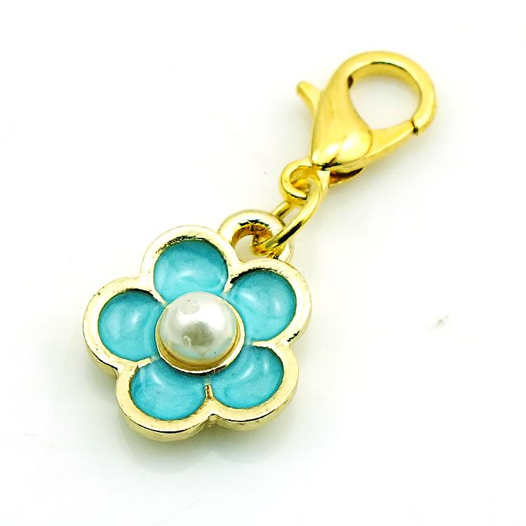Brand New Fashion Floating Charms Alloy Lobster Clasp Pearl Peatl Charms DIY Accessories Jewelry