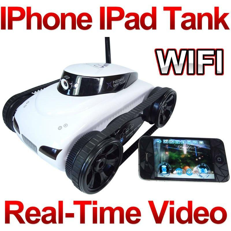 Free Shipping Rover App-Controlled Wireless 4Ch i-Spy Tank With Camera for iPhone, iPod Touch and iPad/RC Toy Car F04110