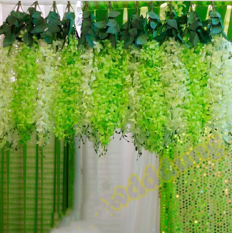Discount romantic wedding decoration garland artificial hanging discount romantic wedding decoration garland artificial hanging orchids plants fake silk flower vine for wedding backdrop party decoration supplies from junglespirit Image collections