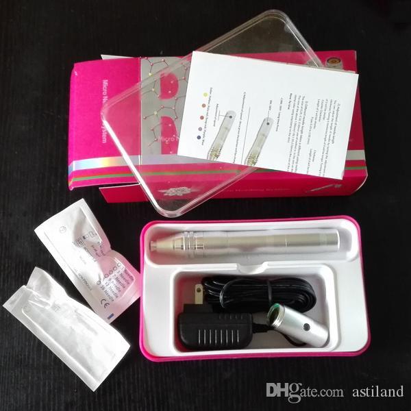 Système de thérapie de microneedling de stylo de derma automatique de machine méso électrique rechargeable d'acier inoxydable avec la batterie et la douille