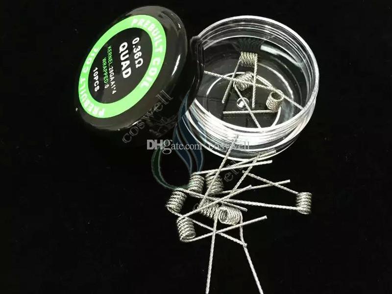 사전 제작 된 코일 9 가지 유형 난방 저항 랩 와이어 Alien Fused Clapton 플랫 믹스 Twisted Hive 쿼드 타이거 mods Vapor RDA premade coil head
