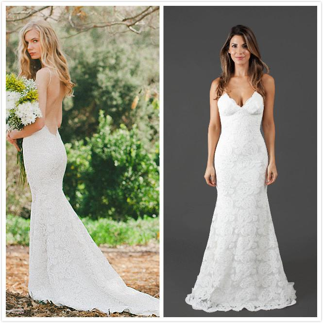 Katie May Bridal Gowns 2016 Lace Wedding Dresses Spaghetti Straps - Spaghetti Strap Wedding Dresses
