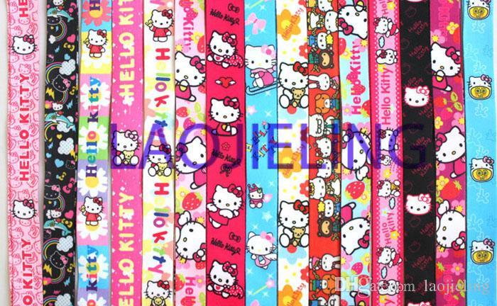 NOUVEAU gros mix bonjour kitty téléphone mp3 / 4 sacs lanières lanière accessoires de téléphone livraison gratuite
