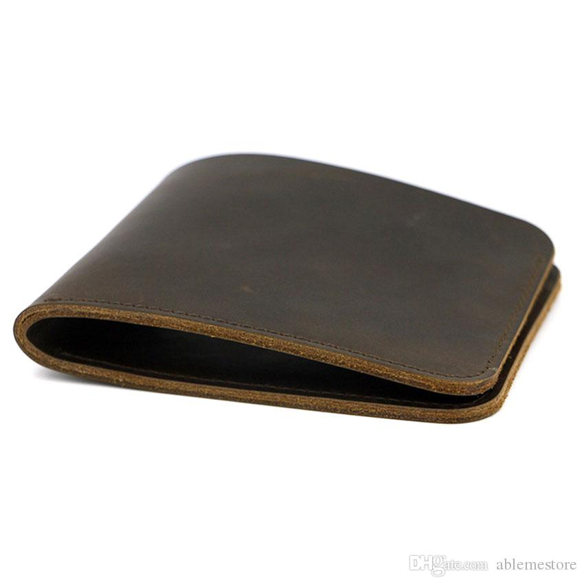 724631b056b76 SMIRNOFF Male Purse Elegant Custom Gift For Men Handmade Wallet Short Leather  Men Purse Simple Design Card Holder Wallet Black Leather Wallet Mens Front  ...