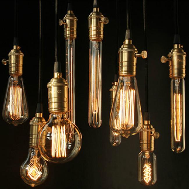 discount hot selling vintage antique wholeset e2627 edison bulbcopper lamp eletrical wire ceiling base bar shop pendant lights pendant