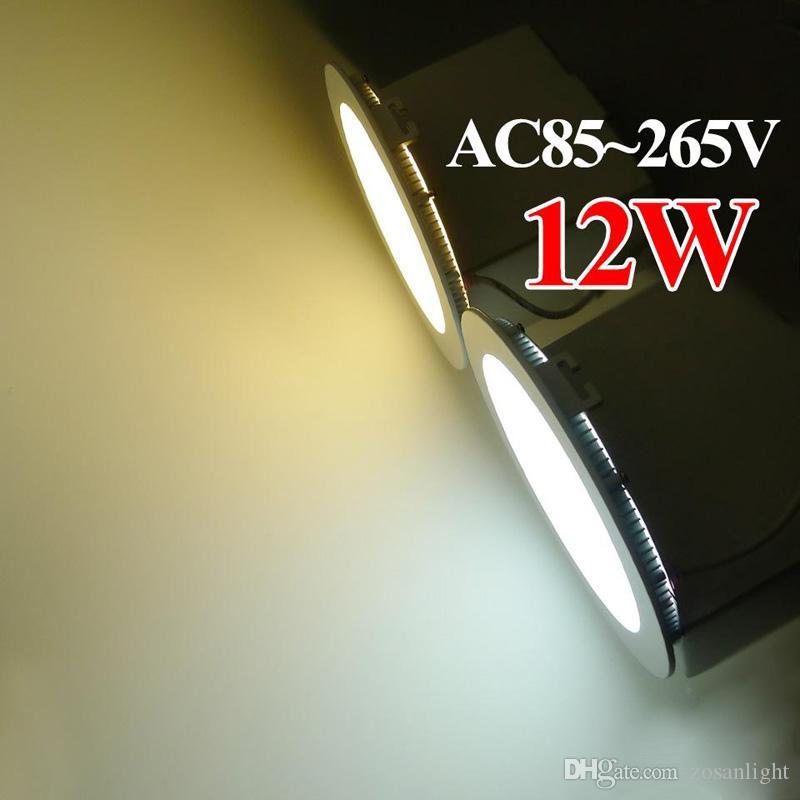 Led 패널 빛 디 밍이 가능한 3W 9W 15W led 조명 화이트 / 따뜻한 LED SMD 2835 홈 조명 AV85-265V 슈퍼 얇은 둥근 천장 통