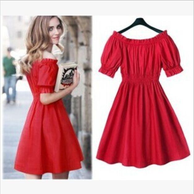 M 5xl, European Fashion Wild Big Yards Summer Sweet Red