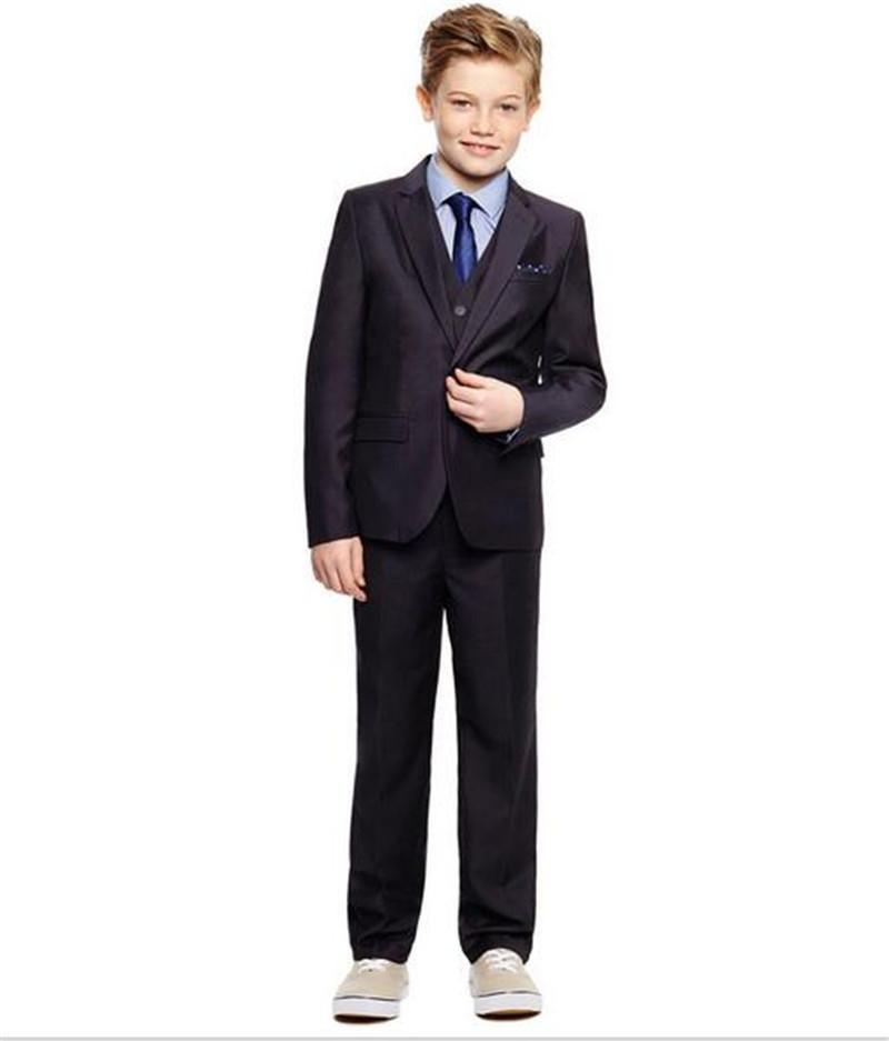 New Arrival The boy suit one buttons children wear formal occasion formal wear slim fit kids suits jacket+pants+vest