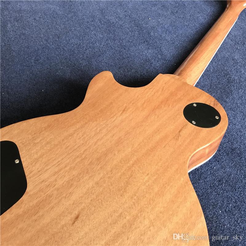Nuovo arrivo Hot Chinese Standard Guitar Electric Guitar con Blue Flame Maple Top, Mahogany Natural Back, tutto il colore è disponibile