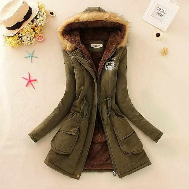 Discount 2015 New Winter Womens Parka Casual Outwear Military ...
