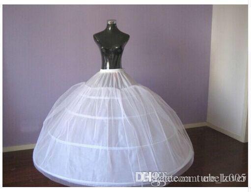 4 aros vestido de baile anágua para a noiva vestido de noiva grande tutu petticoats maxi plus tamanho underskirt alta qualidade