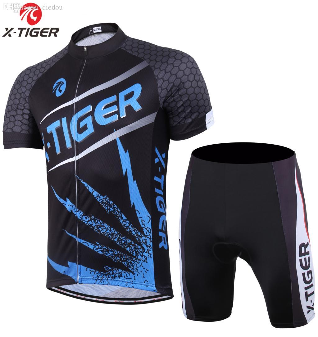 Wholesale-X-Tiger Brand Fury Lightning Cycling Jerseys Breathable ... d1640ec54