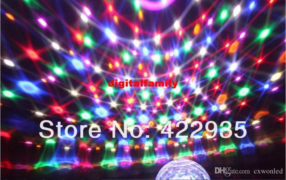 LED Channel DMX512 Controllo digitale LED RGB Crystal Magic Ball effetto luce DMX Discoteca DJ Stage party Lighting Spedizione gratuita