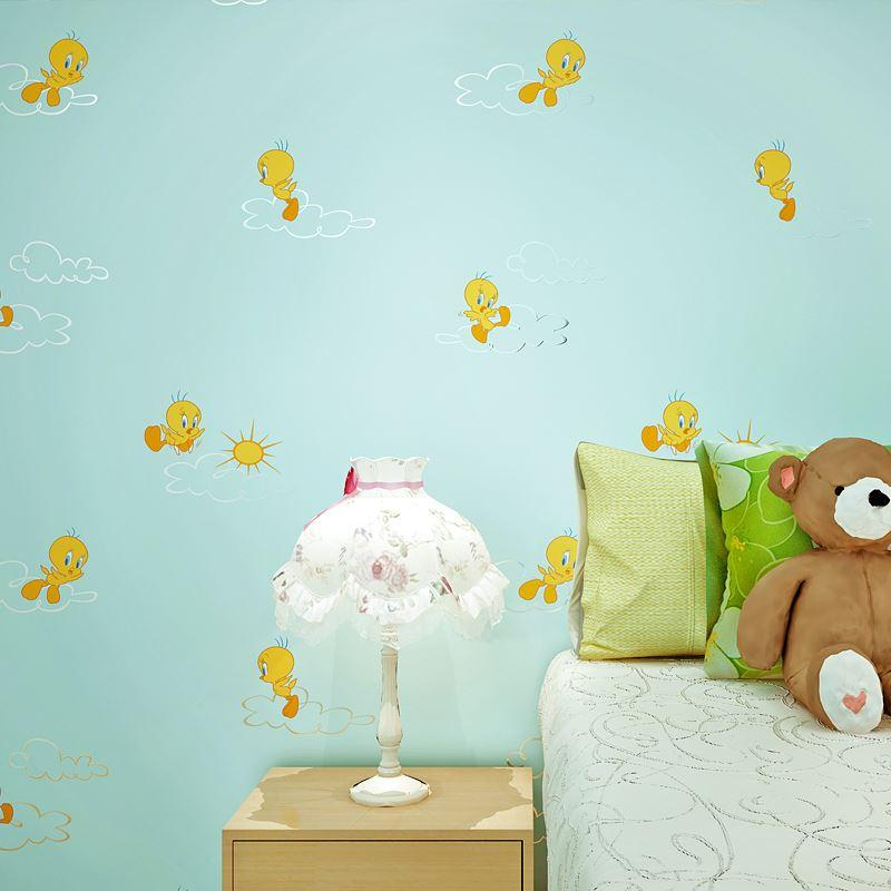 Printing Cartoon Cute Boys And Girls Room Background Wall Paper High Quality Wallpaper No China Natural W Cheap Seamless Online With