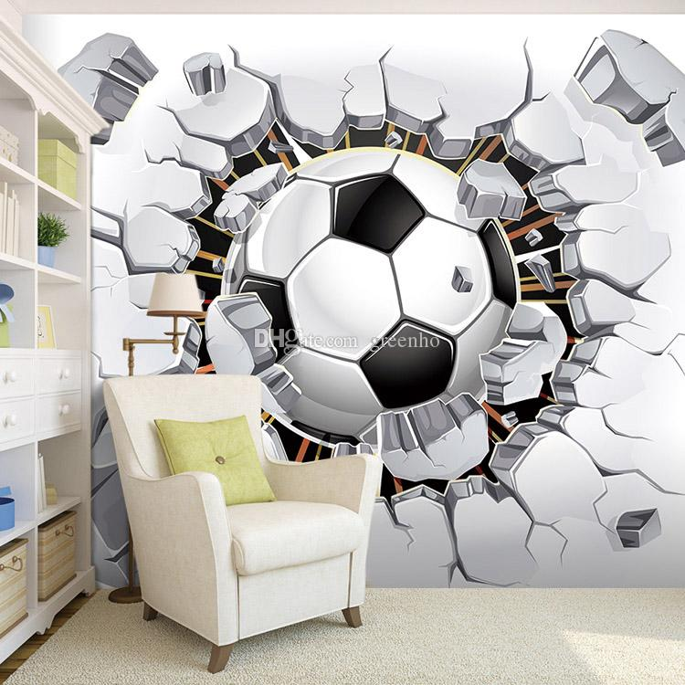 Football Photo Wallpaper Soccer Wall Mural 3d Wallpaper Passion For The  World Cup Boys Kids Room Decor Bedroom Living Room Decoration Sport Free  Wallpaper ... Part 43