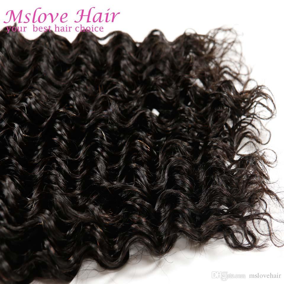 Глубоко вьющиеся бразильские VirginHair Королева волос бразильский глубокая Волна 4 пучки 7A необработанные бразильские вьющиеся VirginHair