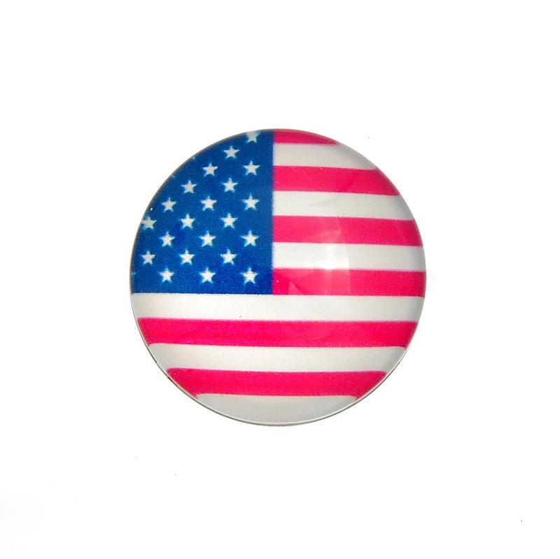 JACK88 50pcs/lot Mix 18mm Snap Button American Germany UK Flag Snaps Fit Ginger Snap Button Charm Bracelet Jewelry N450