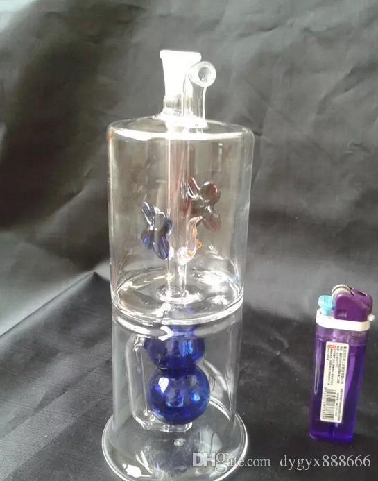 Classico vaso di vetro filtro a due strati di colore, colori, stili sono consegna casuale, narghilé vetro all'ingrosso, spedizione gratuita, grande meglio