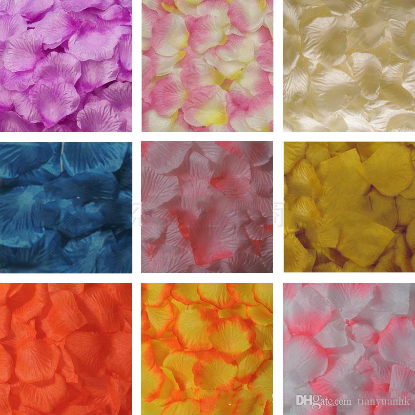 New Hot Sale Party Decoration Wedding Supplies Simulation Petals Room Decorative Rose Flower Items For