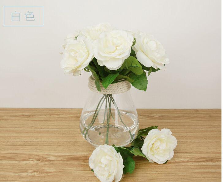 Rose Artificiale Fiori Seta Real Touch matrimonio Home Design Bouquet Decorazione Prodotti Fornitura HJIA128