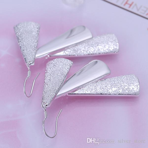 Brand new sterling silver plate Three earrings DFMSE015,women's 925 silver Dangle Chandelier earrings a