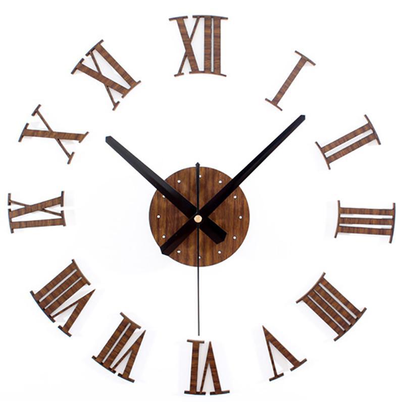 Compre Reloj De Pared De Madera De Los Números Romanos De Época ...