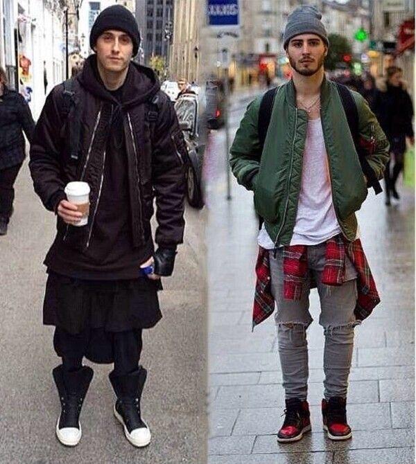 Winter Jacket Men Fashion Streetwear Mens Swag Bomber Jacket Coat ...